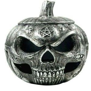Alchemy Gothic Pumpkin Skull Pot Trinket Box